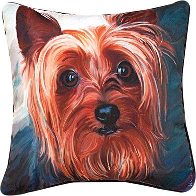 Yorkie Style Yorkie Throw Pillow