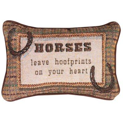 Horses Leave... Heart Word Lumbar Pillow
