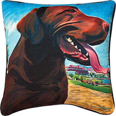 View from the Hill Choc Lab Throw Pillow