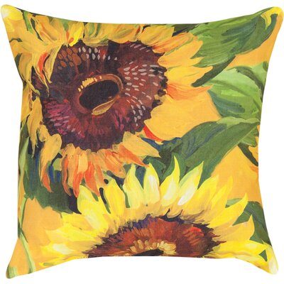 Sunflower Knife Edge Throw Pillow