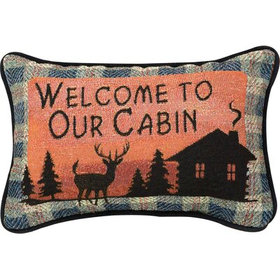 Bear Lodge Word Lumbar Pillow