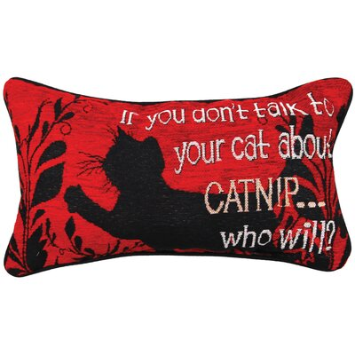 Kitty Talk Catnip Lumbar Pillow