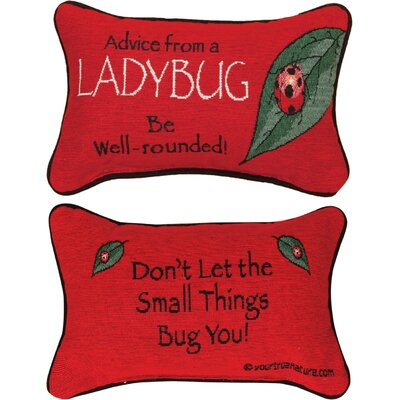 Advice from a Lady Bug Word Lumbar Pillow