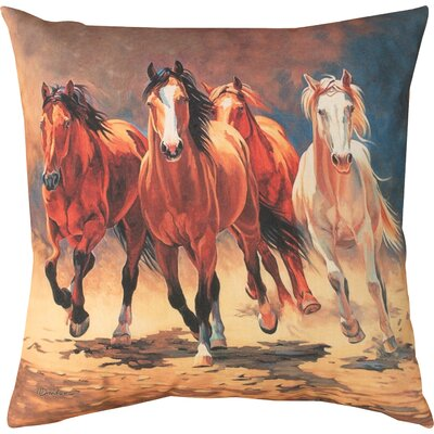 Hoofbeats & Heartbeats Knife Edge Throw Pillow