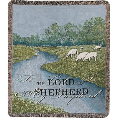 The Lord is My Shepherd Tapestry Cotton Throw