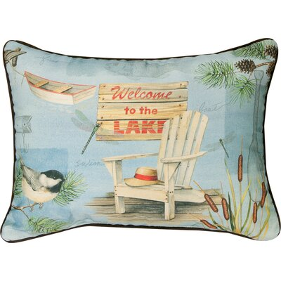 Welcome to the Lake Knife Edge Cotton Lumber Pillow