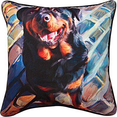 Handsome Rottie Rottweiler Throw Pillow