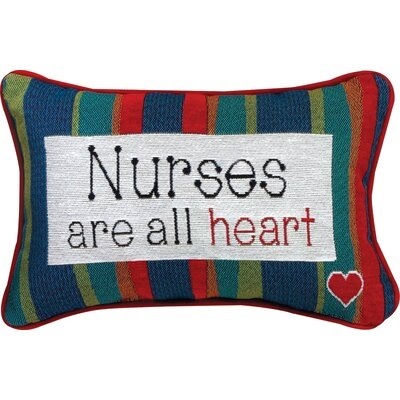 Nurses... All Heart Word Lumbar Pillow