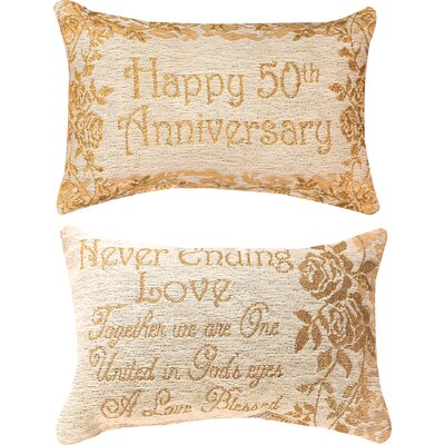 50th Anniversary Word Lumbar Pillow