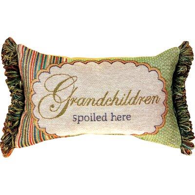 Grandchildren Spoiled Here Word Lumbar Pillow