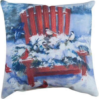 Chair in Winter Knife Edge Throw Pillow