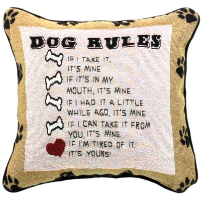 Dog Laws Throw Pillow