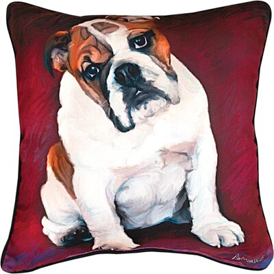 Bulldog Baby Throw Pillow