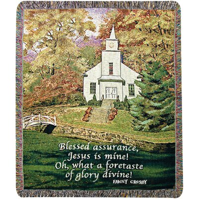 Hazels Church Tapestry Cotton Throw