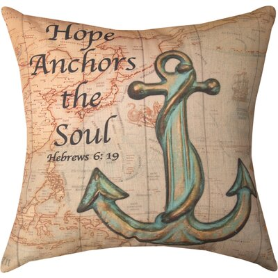 Hope Anchors the Soul DTP Cotton Throw Pillow