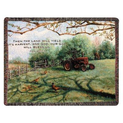 Pheasant Day Tapestry Cotton Throw