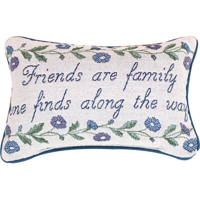 Friends are Family Word Lumbar Pillow