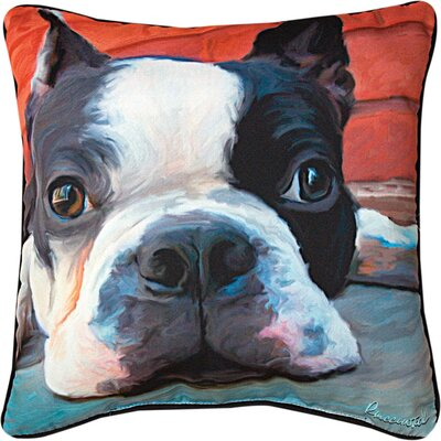 Moxley Boston Terrier Throw Pillow