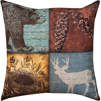 Cabin Sweet Cabin Bear/Deer Throw Pillow