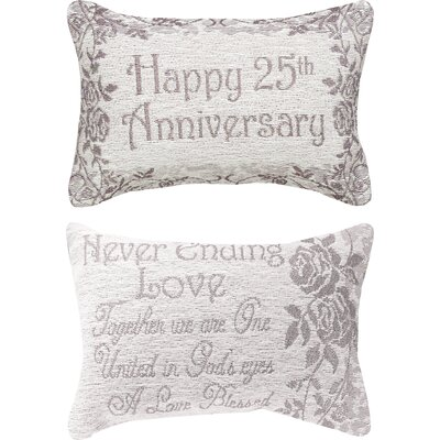 25th Anniversary Word Lumbar Pillow