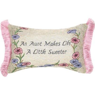 Aunt Makes Life Word Lumbar Pillow