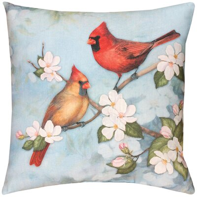 Spring Cardinal Knife Edge Throw Pillow