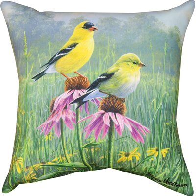 Finch Field Knife Edge Throw Pillow