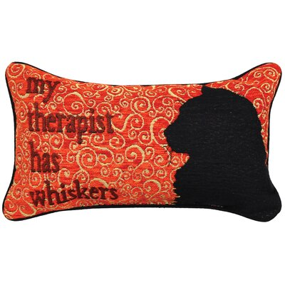 Kitty Talk Whiskers Lumbar Pillow