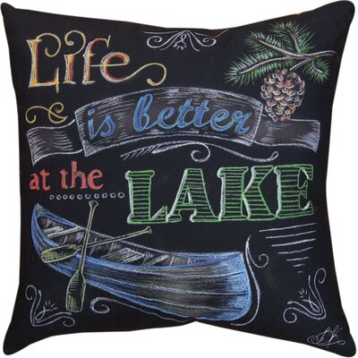 Lake Time Life is Better a the Lake Throw Pillow