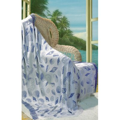 Seashells Throw Color: Periwinkle