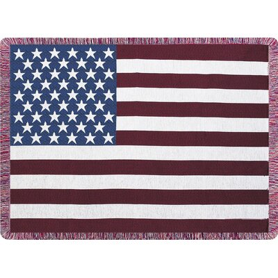 Stars & Stripes Tapestry Cotton Throw
