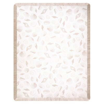 Seashells Throw Color: Bisque