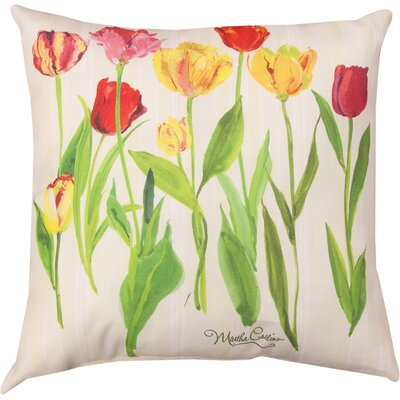 Tulips Knife Edge Throw Pillow
