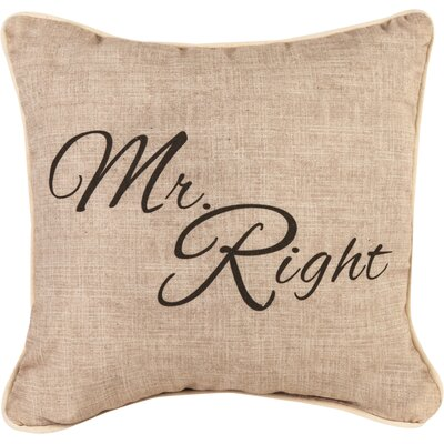 Mr. Right Cotton Throw Pillow