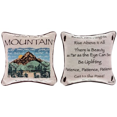 Advice from a Mountain Throw Pillow