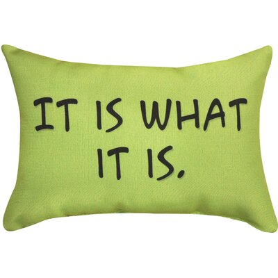 It is What It is Word Lumbar Pillow