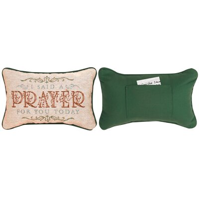 Daily Devotional Today I Said Word Lumbar Pillow