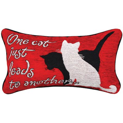 Kitty Talk One Cat Lumbar Pillow