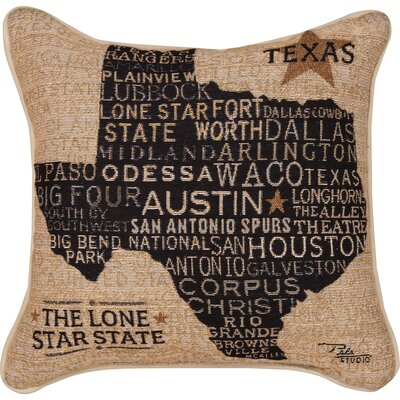 USA Texas Throw Pillow