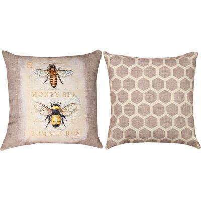 Natural Life Bee Nat History Throw Pillow
