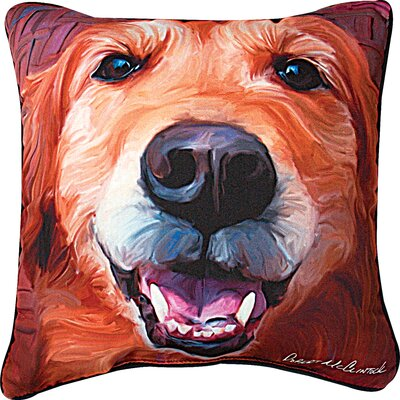 Nutmeg Golden Retriever Throw Pillow