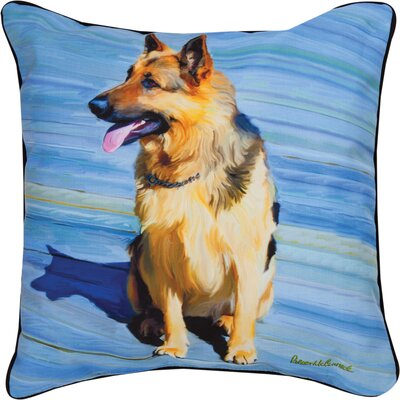 Big Schutz German Shepherd Throw Pillow