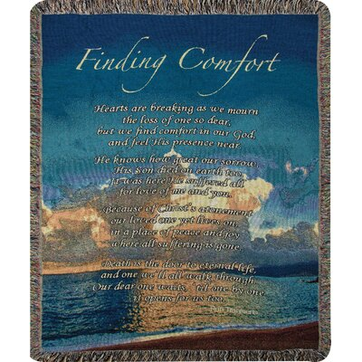 Finding Comfort Tapestry Cotton Throw
