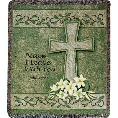 Peace I Leave with You Tapestry Cotton Throw