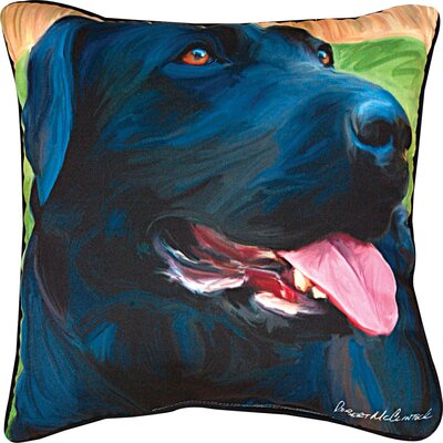 Handsome Lab Throw Pillow