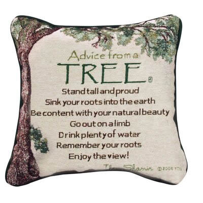 Advice from a Tree Throw Pillow