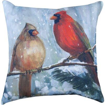 Holiday Birds Knife Edge Throw Pillow