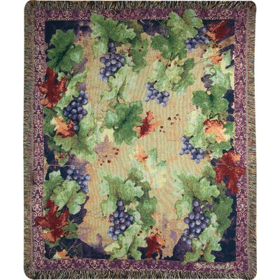 Sanctuary Wine Tapestry Cotton Throw