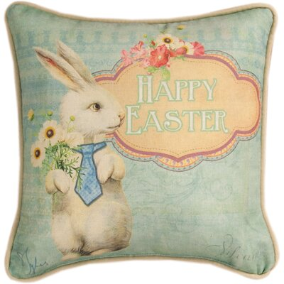 Happy Easter Cotton Throw Pillow
