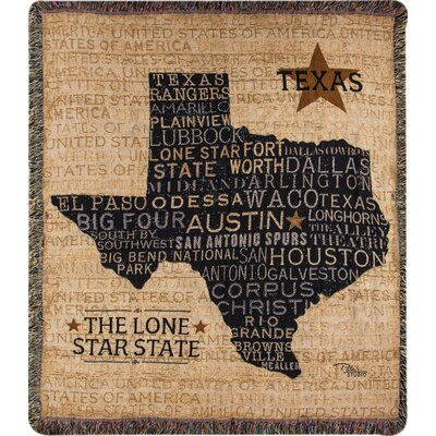 USA Texas Tapestry Cotton Throw